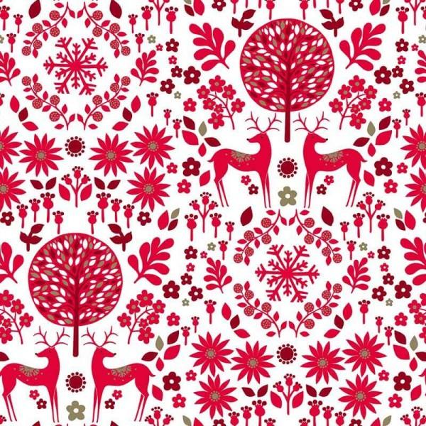 Starlit Hollow Red Reindeer on Light Metallic (SHOL1648) von Dashwood Studio