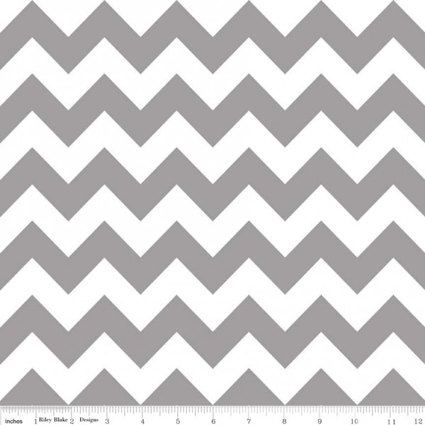 Medium Chevron Flannel Gray (F320-40 GRAY) von Riley Blake