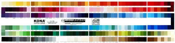 Kona Cotton - Farbkarte (303 Farben)