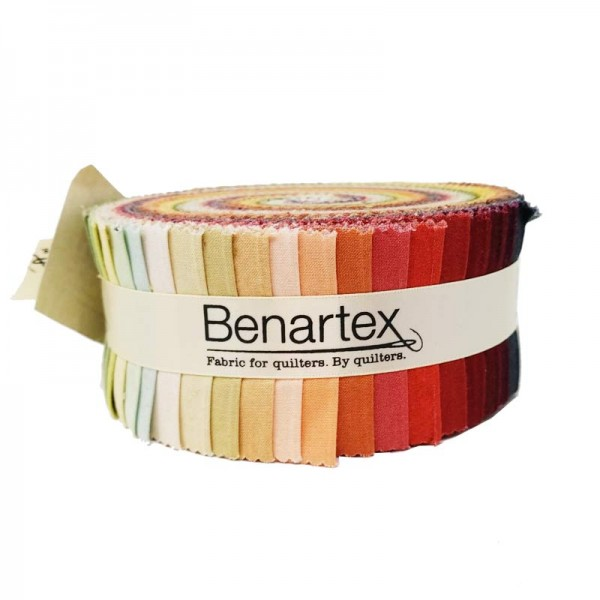Benartex Shadow Blush Earth Tones Jumbo Strip-Pie