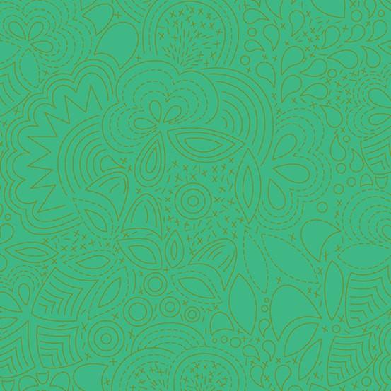 Stitched Grasshopper (A-8450-G) Sun Print 2020 von Alison Glass