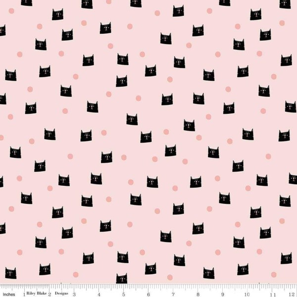 Meow and Forever Dots Rosa (C7844-PINK) von Riley Blake