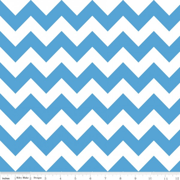 Medium Chevron Flannel Medium Blue (F320-22 MEDIUMBLUE) von Riley Blake