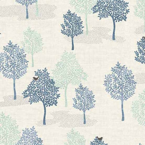 Woodland Trees Blue (2062-B) von Makower