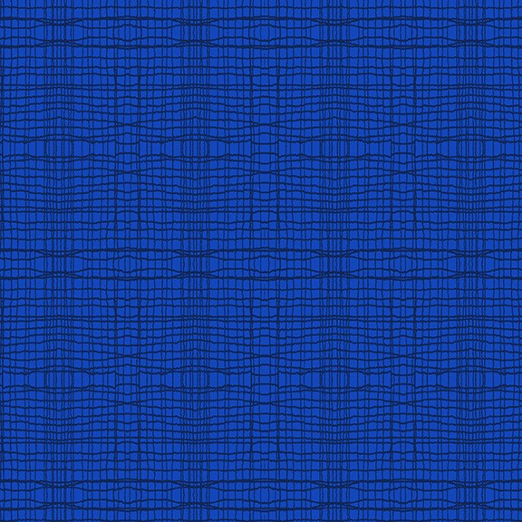 Stitch Check Royalblau (5622/B80) von Makower