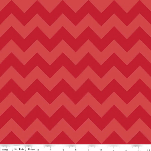 Medium Chevron Tone on Tone Red (C380-81 RED) von Riley Blake