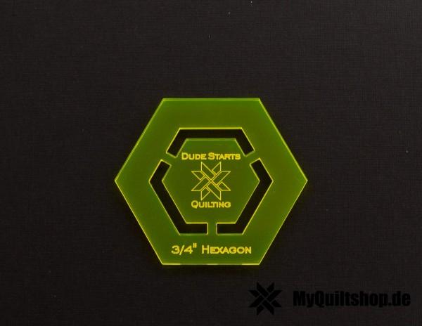 Dude Starts Quilting 3/4 Inch Hexagon English Paper Piecing Set