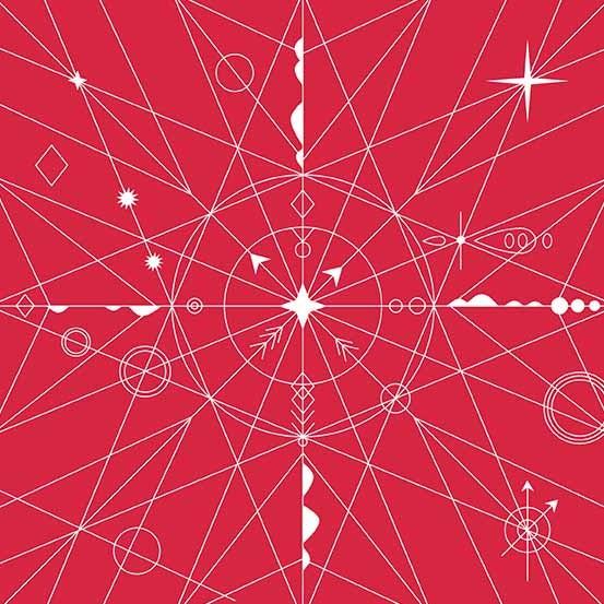 Hopscotch Compass (CS-22-STRAWBERRY) von Alison Glass