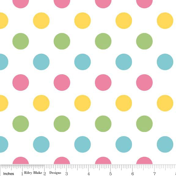 Medium Dots Flannel Girl (F360-03 GIRL) von Riley Blake