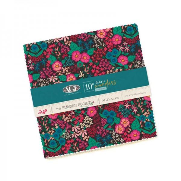 "Art Gallery Fabrics The Flower Society 10"" Fabric"
