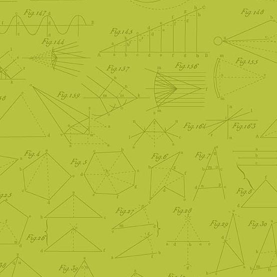 Color Theory Diagram Lime (A-9152-G) von Andover Fabrics