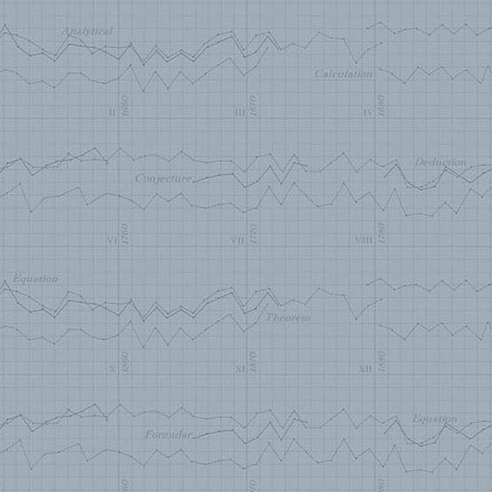 Color Theory Graph Grey (A-9151-C) von Andover Fabrics