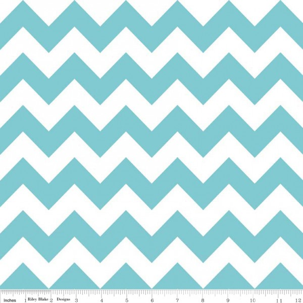 Medium Chevron Flannel Aqua (F320-20 AQUA) von Riley Blake