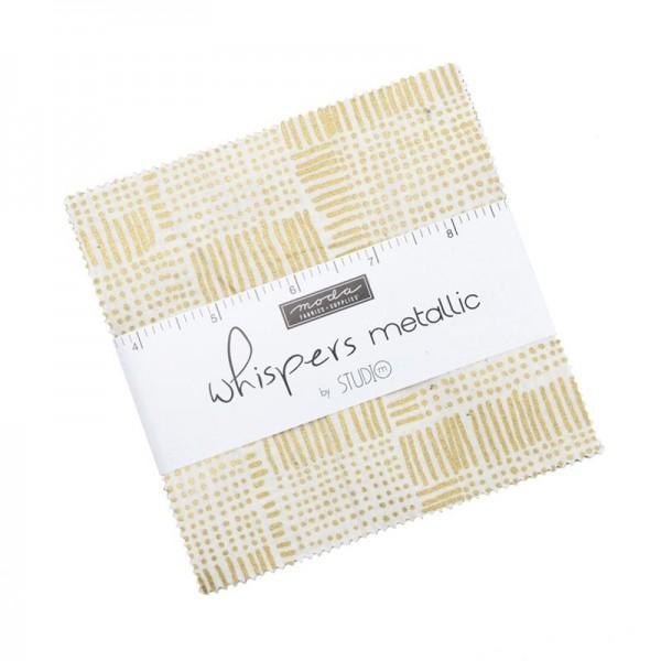 Moda Metallic Whispers Gold Charm Pack