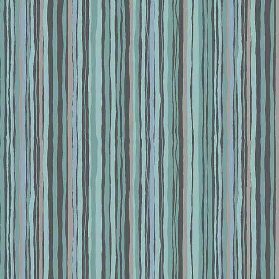 Woodland Wavy Stripe Dark (1899-S2) von Makower