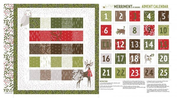 Moda Merriment Advent Panel Adventskalender