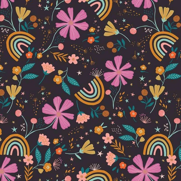 Good Vibes Flowers and Rainbows (GOOD1855) von Dashwood Studio