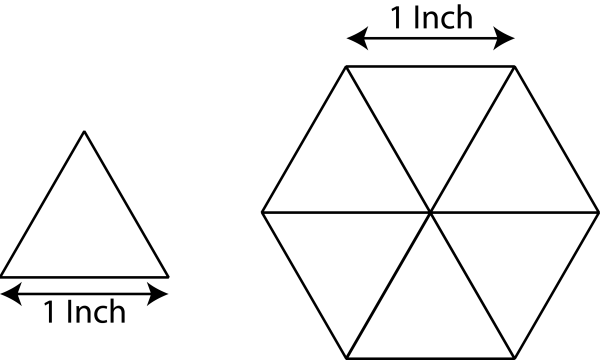 English Paper Piecing Schablonen Dreieck 1 Inch ( 100 St.)