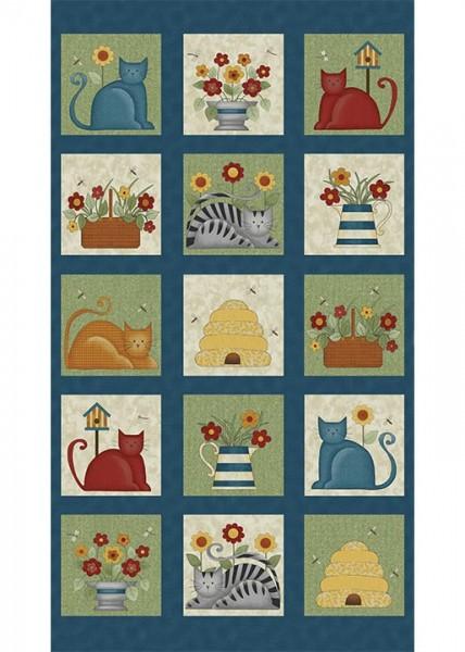 Benartex Colorful Cats Panel